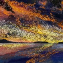 Sky on Fire, Still Waters, 2019 - Beverley Coleclough